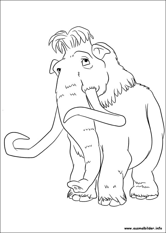 Ice Age 4 Voll Verschoben Malvorlagen Sketch Coloring Page