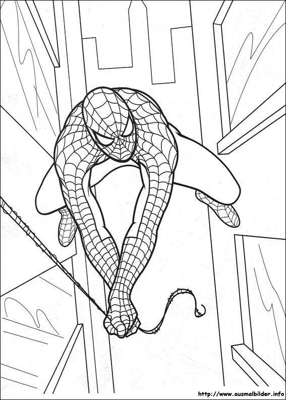 spider-man malvorlagen