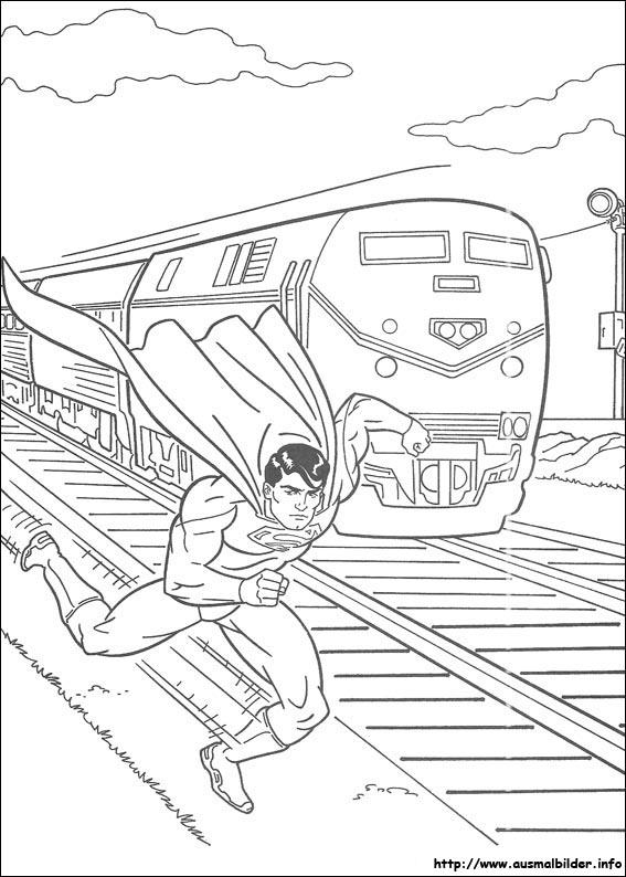 superman malvorlagen